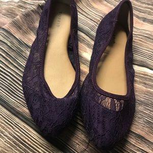 Torrid size 8 purple lace flats